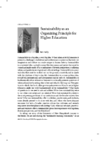 Sustainability as an organizing principle for higher education